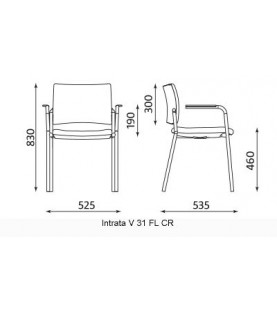 Посетителски стол Intrata V-31-CF