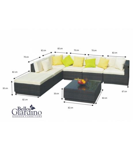 Комплект градински мебели LUSSO