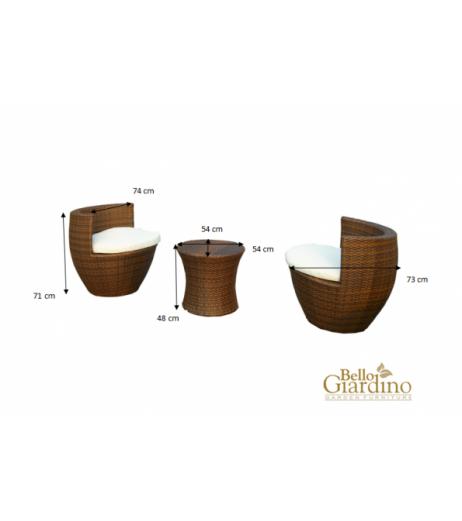 Комплект градински мебели MODICO