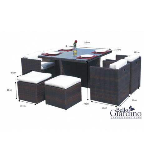 Комплект трапезни мебели DELIZIOSO