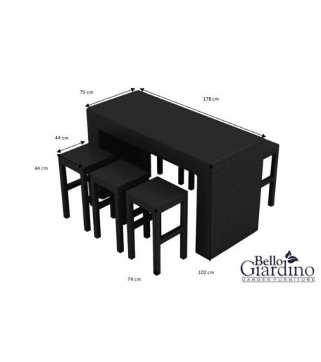 Комплект трапезни мебели GENIALE